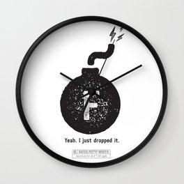 """""""F"""" BOMB Wall Clock"""