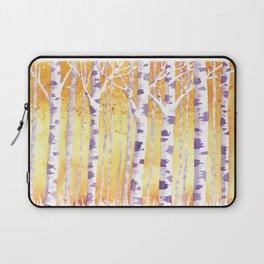 Golden Birch Trees Laptop Sleeve