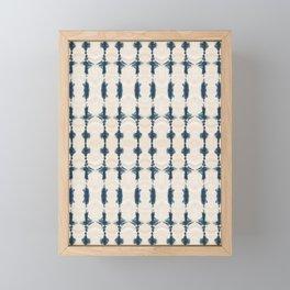 Shibori Movement in Indigo Framed Mini Art Print