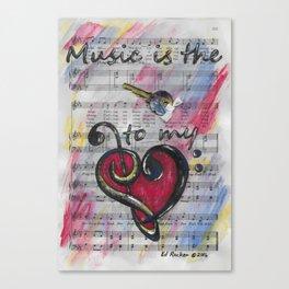 Music is Key 1 Canvas Print