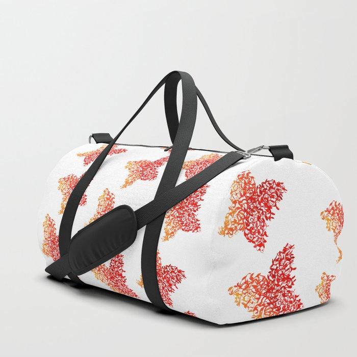 Butterfly on Fire Duffle Bag