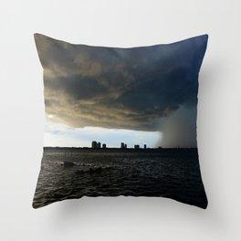 Storm over Tampa Bay Throw Pillow
