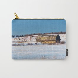 Old Barn in the snow Carry-All Pouch