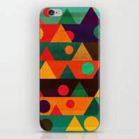 moon phase iPhone & iPod Skins featuring The moon phase by Picomodi