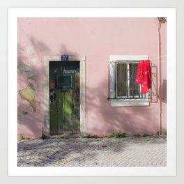 green and red Lisbon Art Print
