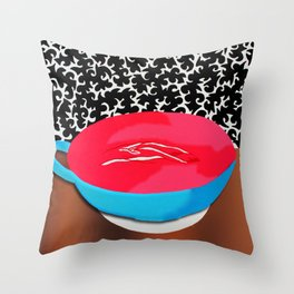 Vagina Latte Throw Pillow