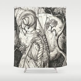 Night fairy Shower Curtain