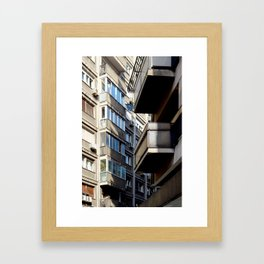 Belgrade / Balconies Framed Art Print