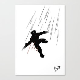 Wolvie in a blaze of glory Canvas Print
