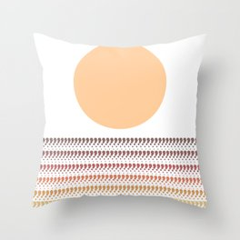 Sunset @ Sunrise (Choco-Orange) Throw Pillow