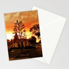 Sky at dusk. Stationery Cards