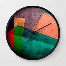 Colorful Scratches Wall Clock