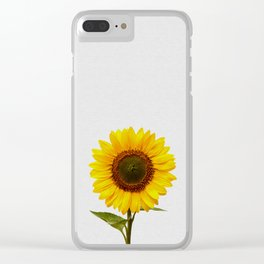 Sunflower Still Life Clear iPhone Case