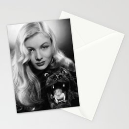Veronica Lake black and white photography - black and white photographs Stationery Cards