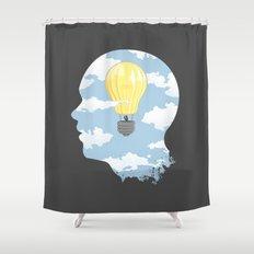 Bright Idea Shower Curtain