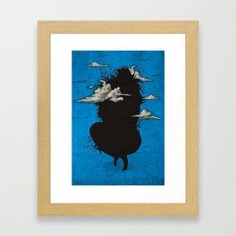 My head always in the sky... Framed Art Print