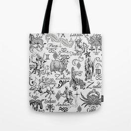 ZODIAC CANVAS CALLIGRAPHY Tote Bag