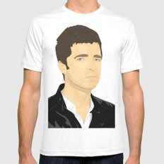 Noel Gallagher White Mens Fitted Tee MEDIUM