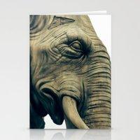 bastille Stationery Cards featuring L'éléphant de la Bastille by The Last Sparrow
