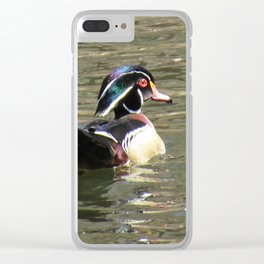 Wood Duck at Green Valley In Clear iPhone Case