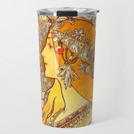 "Alphonse Mucha ""Zodiac"" Travel Mug"
