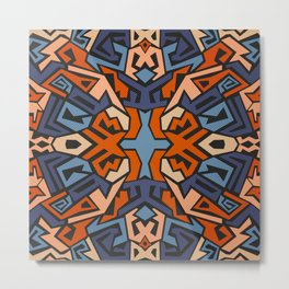 Abstract graffiti in red and blue colours Metal Print