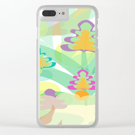 Mystery Flora Clear iPhone Case