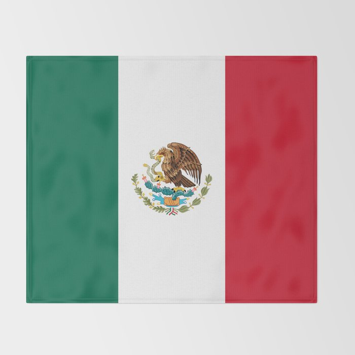 Mexican flag of Mexico Throw Blanket