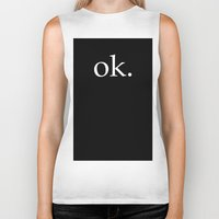 kim sy ok Biker Tanks featuring ok by The Funky Skull