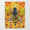 Bee & Honeycomb by catcoq