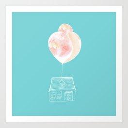 Balloon House Art Print