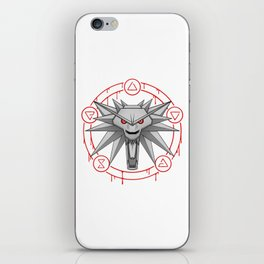 Witcher White Wolf Signs Medallion iPhone Skin