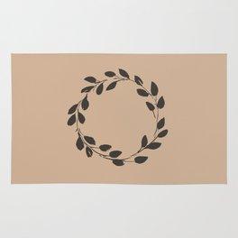 Simple Wreath on Hazelnut Rug