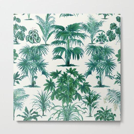 Exotic Tropical Palm Print Metal Print