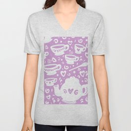 tea for two Unisex V-Neck