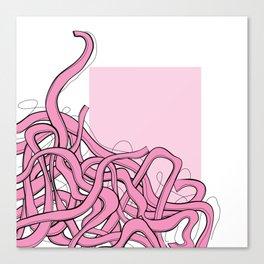 Pink Noodles Canvas Print