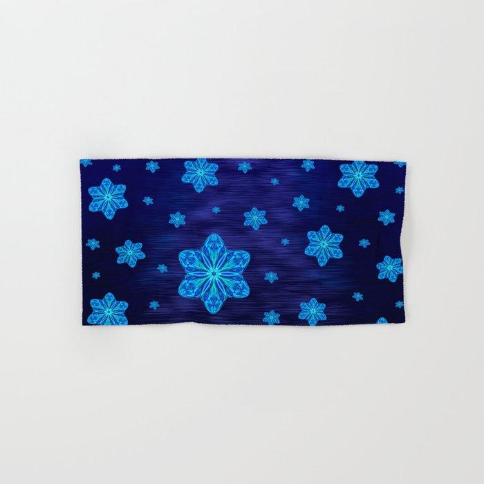 Snowy Cerulean Sea Hand & Bath Towel