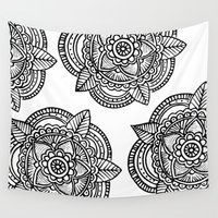 doodle Wall Tapestries featuring DOODLE  by Aysha AlShamsi