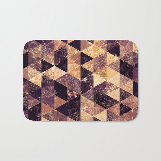 Abstract Geometric Background #3 Bath Mat