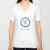 percy jackson V-neck T-shirts featuring Percy Jackson by Dan Lebrun