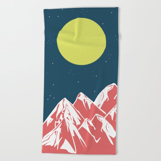 galactic mountains Beach Towel