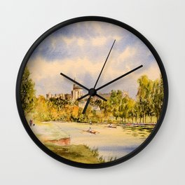 Windsor Castle And River Thames Wall Clock