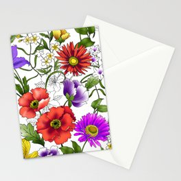 Watercolor Botanical Border Stationery Cards