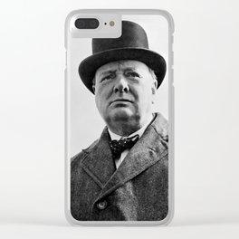 Sir Winston Churchill Clear iPhone Case