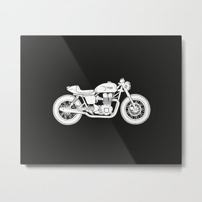 Triumph Bonneville - Cafe Racer series #3 Metal Print