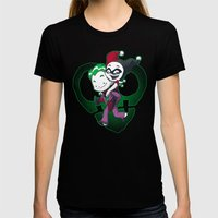 Crazy in Love Black Womens Fitted Tee SMALL