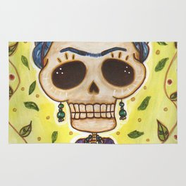 Frida Day of the Dead Rug