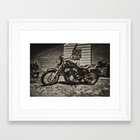 honda Framed Art Prints featuring Honda VT750S  by Rob Hawkins Photography
