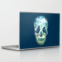 skull Laptop & iPad Skins featuring Nature's Skull by Rachel Caldwell
