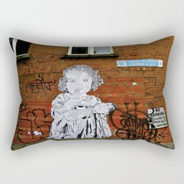 Copper A Ley Street Art, Dublin Rectangular Pillow